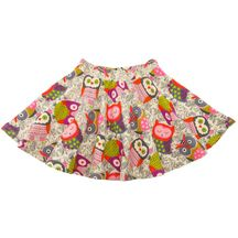 Lemon Loves Lime Owl Twirl Skirt (Size 7)