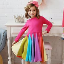 Lemon Loves Lime Rainbow Magic Dress in Knit
