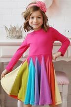 Lemon Loves Lime Rainbow Magic Dress in Knit (2, 7, 8, 10)