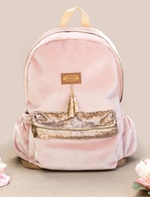 Lexi Backpack in Blush Velvet