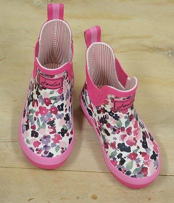 Little Joules Floral Welli Boots for Kids (Size 12)