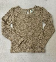 Little Prim Beige Lace Top Lilly