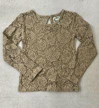 Little Prim Beige Lace Top Lilly (Size 6)