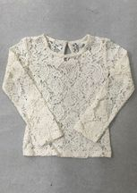 Little Prim Ivory Lace Top in Ivory (12Mos,2T,5,6)