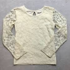 Little Prim Ivory Lace Top in Ivory (Size 6X)