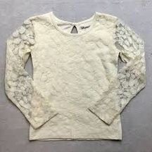 Little Prim Ivory Lace Top in Ivory (4T,6,6X)