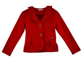 Mayoral Little Red Ruffled Cardigan for Girls