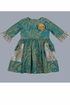 Loving Deer Teal Dress for Girls (2T & 3T) Alternate View