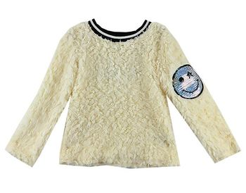 Make Me Smile Shaggy Sweater (Size XL 14)