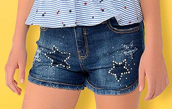 Mayoral Adjustable Waist Denim Shorts (10,12,14)