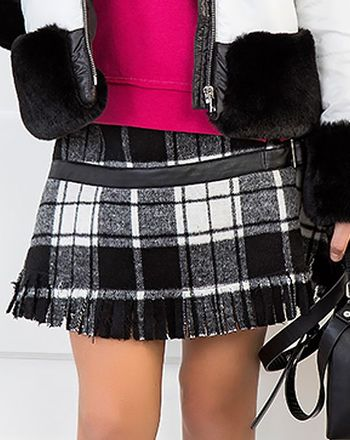 Mayoral Back to School Skirt Black Check (Size 10)