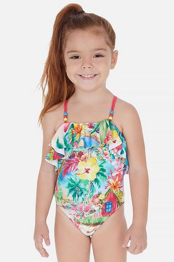 Mayoral Swimsuit Tropical Girl (Sizes 3 to 7)