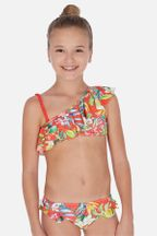 Mayoral Bikini with Ruffles in Tropical Flowers (8,10,12,14)