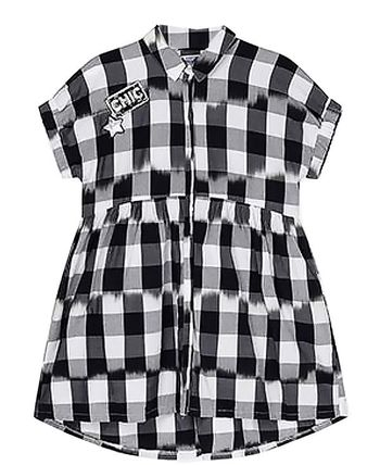 Mayoral Black and White Plaid Dress (8,10,12,14)