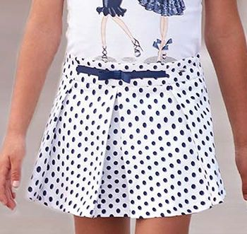 Mayoral Black and White Polka Dot Shorts