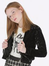 Mayoral Black Sequin Jacket Tweens (8,10,12)