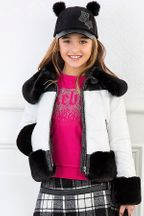 Mayoral Coat in Black and White (Size 10)