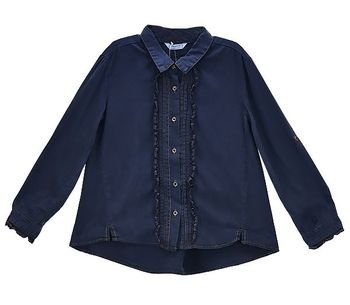 Mayoral Deluxe Denim Blouse Navy