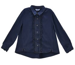 Mayoral Deluxe Denim Blouse Navy (Sizes 2 to 8)