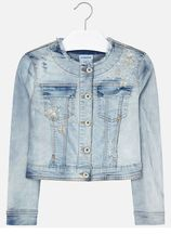 Mayoral Denim Jacket with Gold Stars (10,12,14)