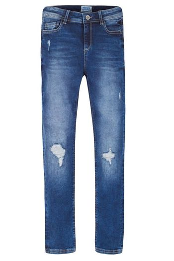 Mayoral Destressed Jeans Dark Wash (10,12,14)