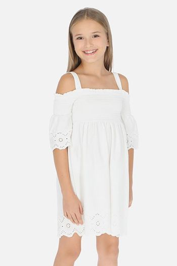 Mayoral Embroidered Lace Dress (8,10,12,14)