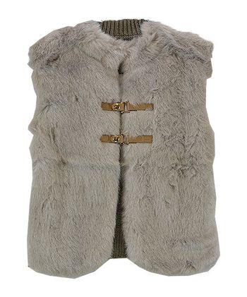 Mayoral Fabulous Faux Fur Vest in Gray (2,3,4,5)