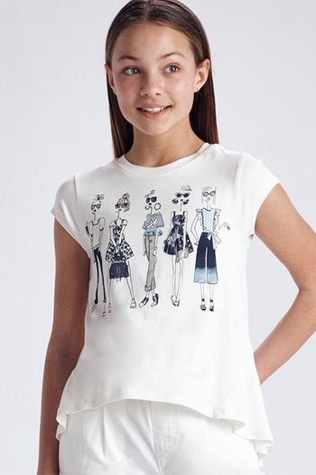 Mayoral Fashion Girls Tee in White SOLD OUT