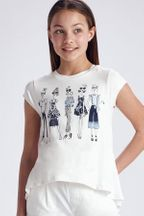 Mayoral Fashion Girls Tee in White
