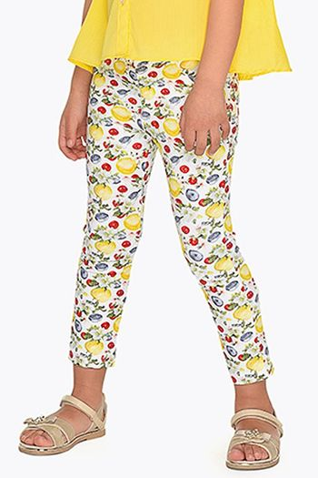 Mayoral Floral Fruit Patterned Pants (Sizes 2 to 8)