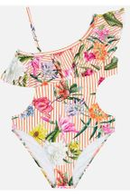 Mayoral Floral One Shoulder Swimsuit for Tween (8,10,12,14)