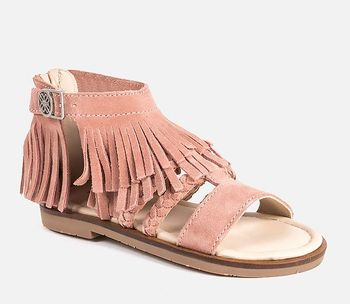 Mayoral Fringed Leather Sandals (Size 10 1/2)