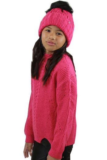 Mayoral Fuchsia Cable Pullover Sweater (Size 8)