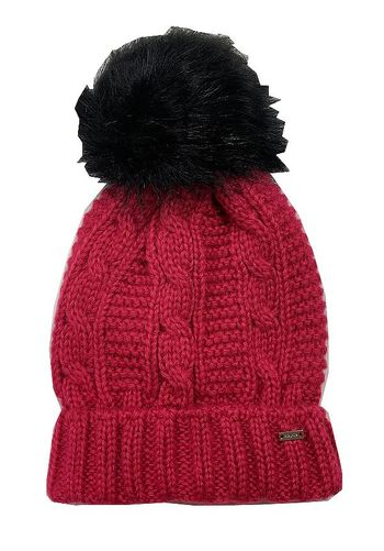 Mayoral Fuchsia Winter Hat Cable Knit