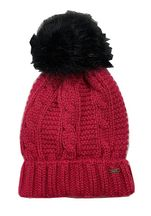 Mayoral Fuchsia Winter Hat Cable Knit (Size Child 4-6X)