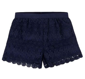 Mayoral Girls Navy Lace Shorts (8 & 14)