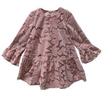 Mayoral Girls Party Dress Pink (Size 2 to 8)