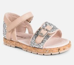 Mayoral Glitter Velcro Sandals (Toddler Size 4 to 8)