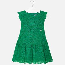 Mayoral Green Lace Dress (Sizes 2 to 8)