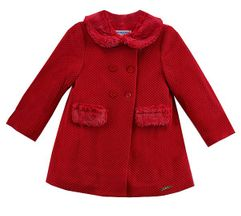 Mayoral Infant Little Red Coat (6Mos,9Mos,24Mos,36Mos)