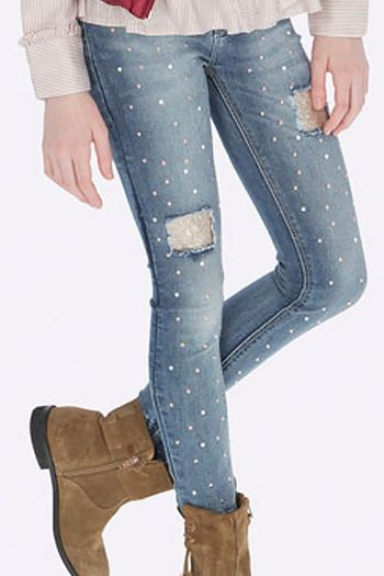 Mayoral Jeans with Pearls and Gold Sequins (12 & 14)