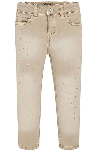 Mayoral Khaki Jeans for Girls (5 & 8)
