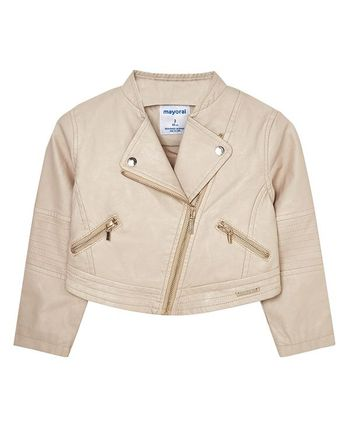 Mayoral Leatherette Jacket Taupe (4,5,7,8)