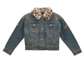 Mayoral Lovely Leopard Denim Jacket (2,3,5,8)