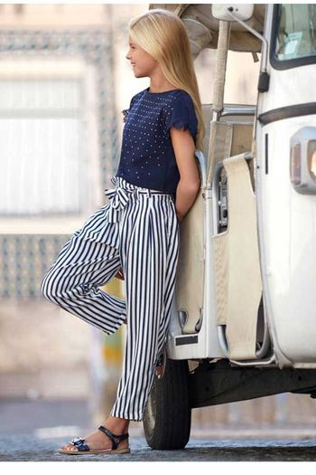 Mayoral Navy Stripe Pant for Tween SOLD OUT