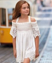 Mayoral Off-The-Shoulder Embroidered Dress (8 & 10)