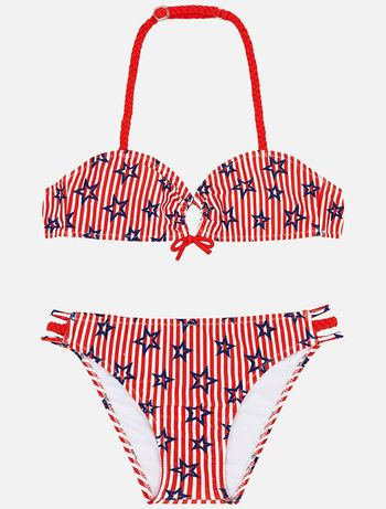 Mayoral Patriotic Bikini in Red for Girls (10 & 14)