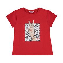 Mayoral Peace Tee in Red