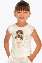 Mayoral Polka Dot Kiss in Gold (Size 2 to 8)