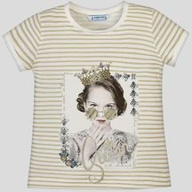 Mayoral Queen Tee with Pearls (Size 2 to 8)